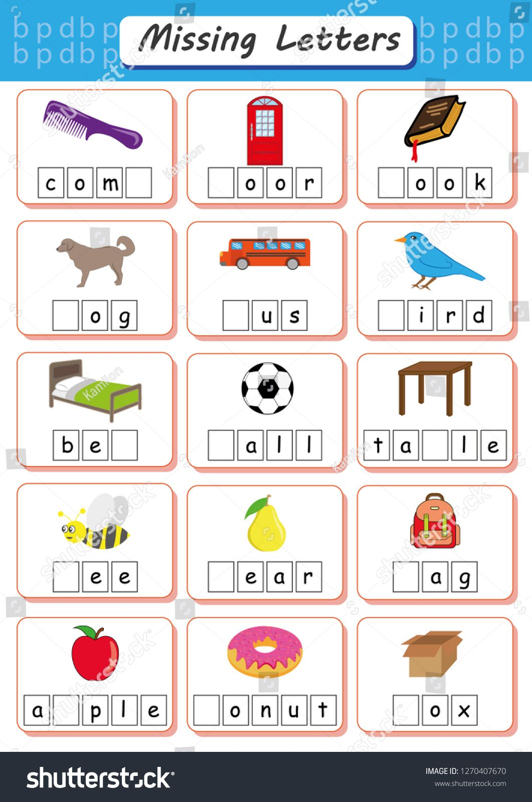 Missing Letters Find The Missing Letters And Write Them In Relevant Places Missing Letter Worksheets Kindergarten Worksheets Kindergarten Literacy Worksheets Write missing letter worksheet