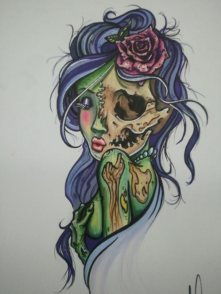 Pin By Trish Thompson On All Things Ink And Piercings Zombie Girl Tattoos Zombie Tattoos Girl Tattoos