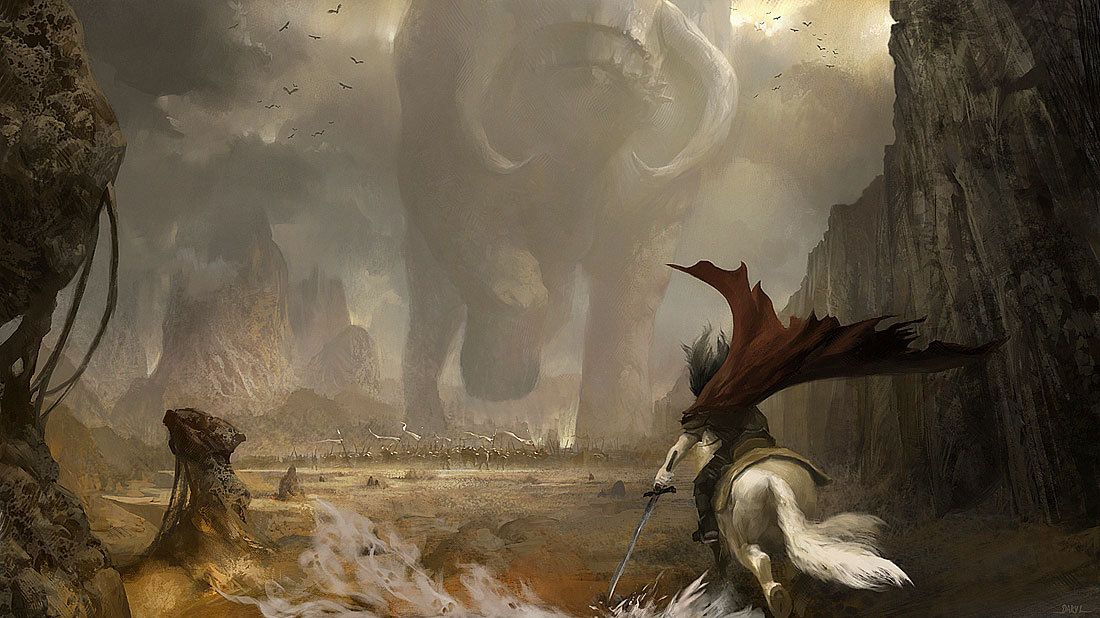 Fantasy Desert Warrior   Tulaq during a battle against Dest near the Makian border
