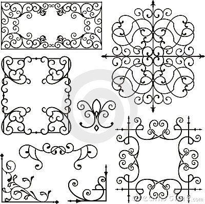 Wrought Iron Ornaments Wrought Iron Design Iron Art Flourish Design