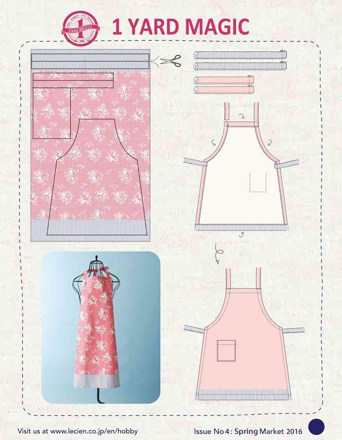 1 Yard Magic Apron from Lecien Fabrics! {free pattern} | Schürze ...