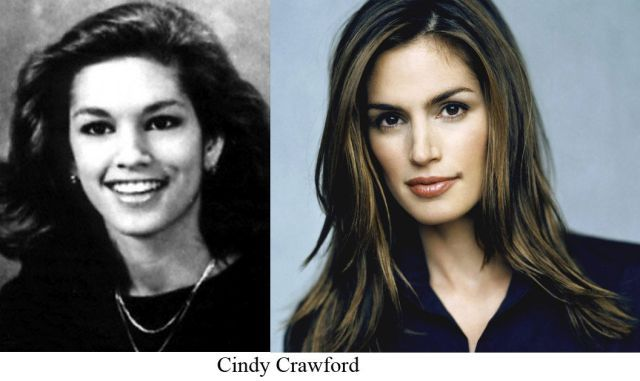 0874264c3ba Wow. I find it comforting that even Cindy Crawford didn t look like Cindy  Crawford in high school.