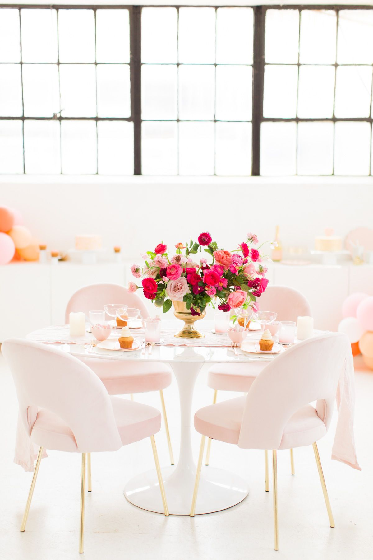 A Simple and Chic Galentine's Table