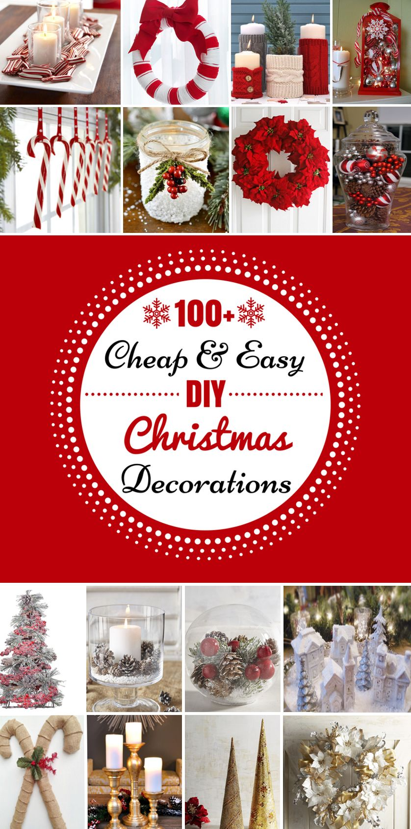 100 Cheap & Easy DIY Christmas Decorations Diy christmas
