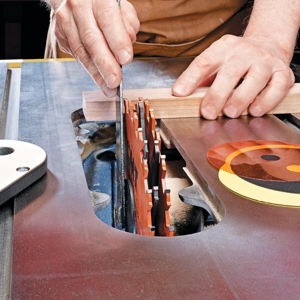 Using A Dado Blade On A Table Saw