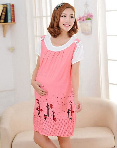 28e33cd423740 Radiation-free Dress Colour: Light pink/winter trees print ...