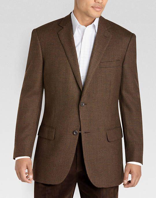 Joseph & Feiss Gold Sport Coat, Brown Check | Men's ...