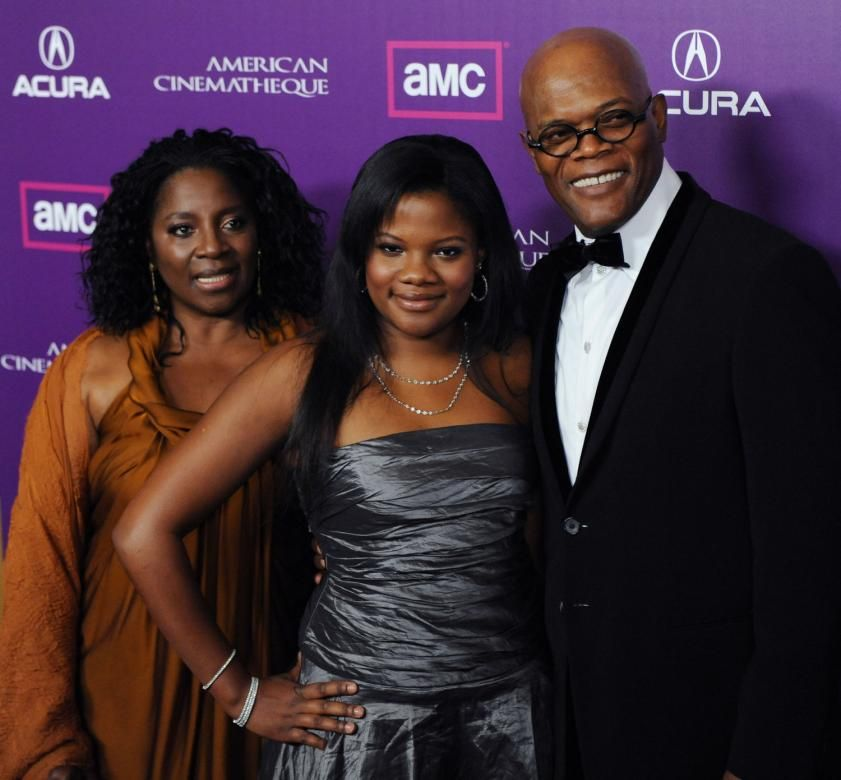 Samuel L. Jackson with wife Latanya Richardson and daughter Zoe