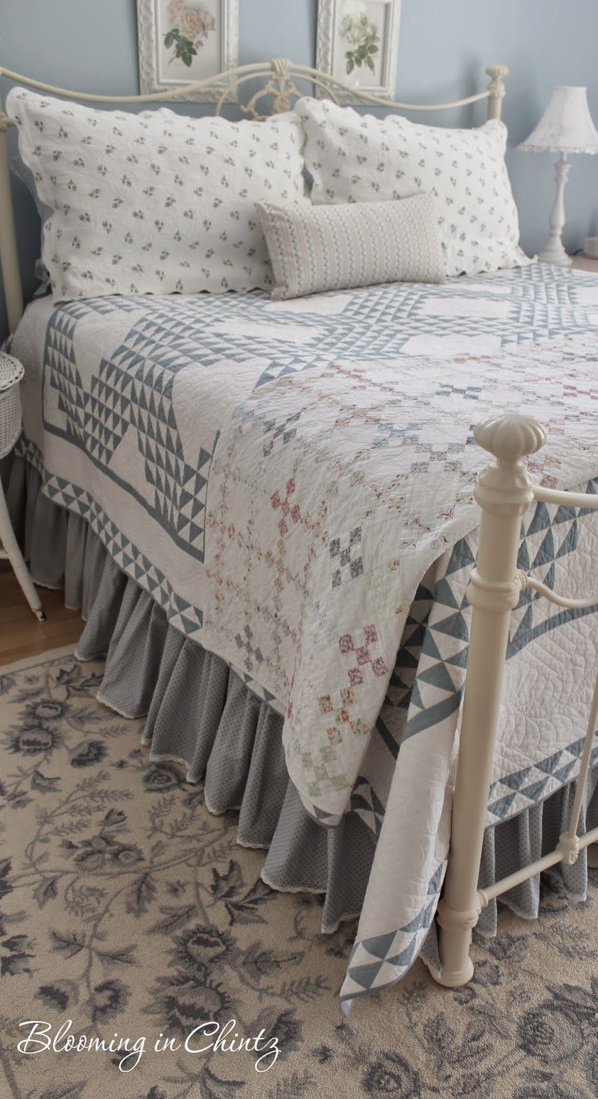Blooming In Chintz Bedroom Quilts Farmhouse Quilts Bedroom Vintage