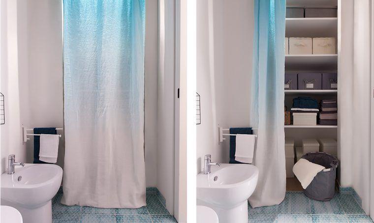 Soluzioni con una tenda cabina armadio lavanderia