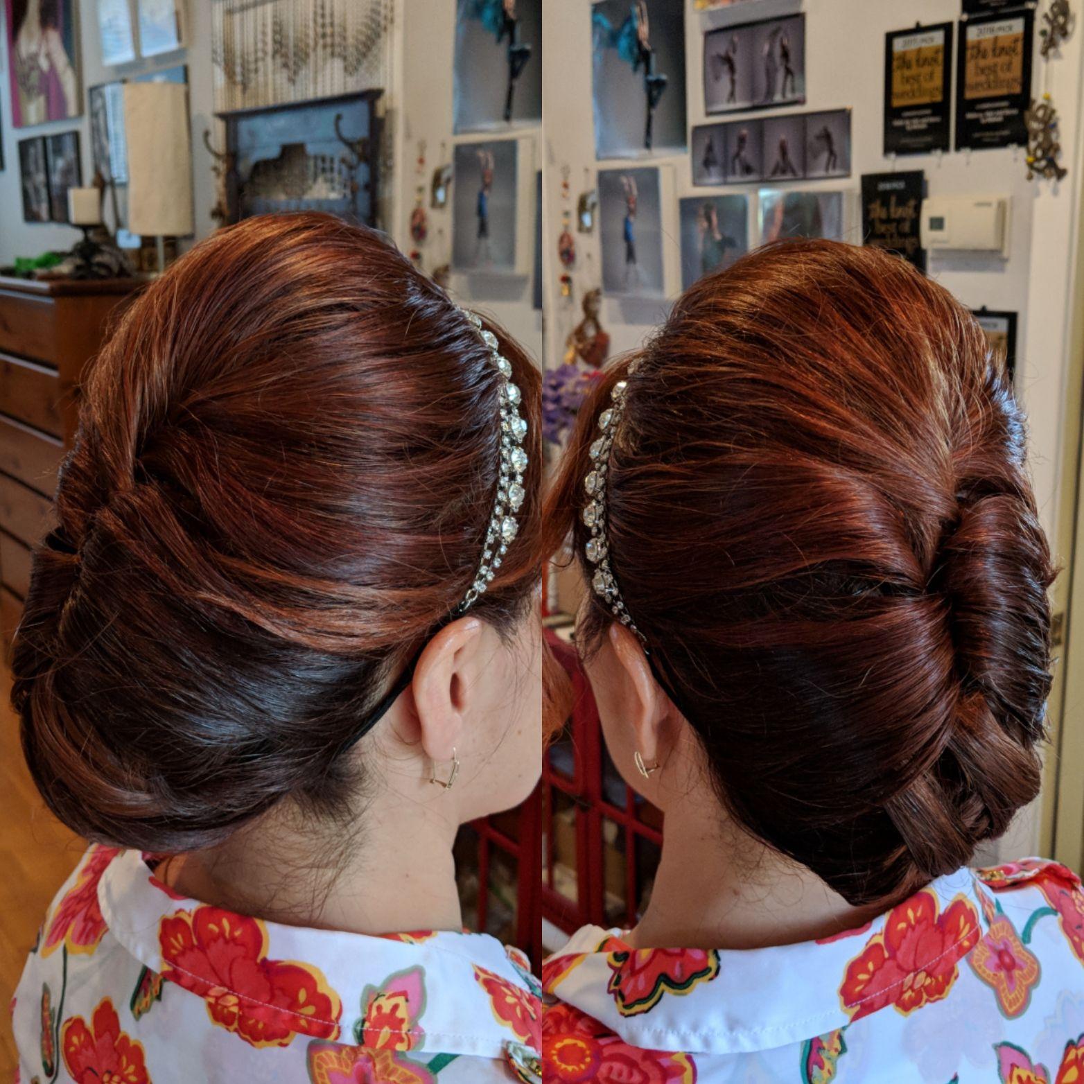 A Smooth Variation On A French Twist Bridal Hair Bridal Updo