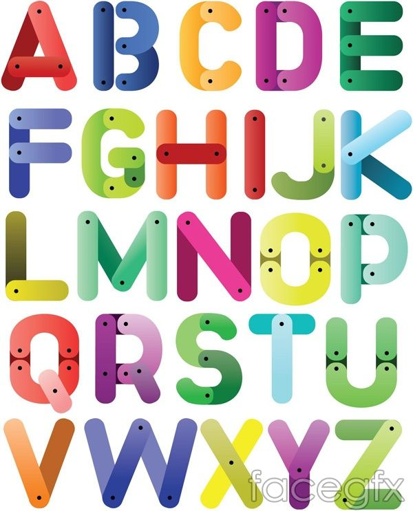 Cartoon 26 letters of the alphabet vector   Harfler   Alphabet