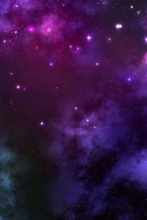 Purple And Pink Starry Galaxy Wallpaper  E2 99 A5