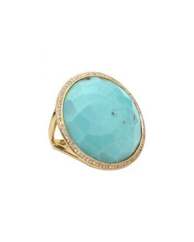 Y1AAN Ippolita Turquoise Lollipop Ring