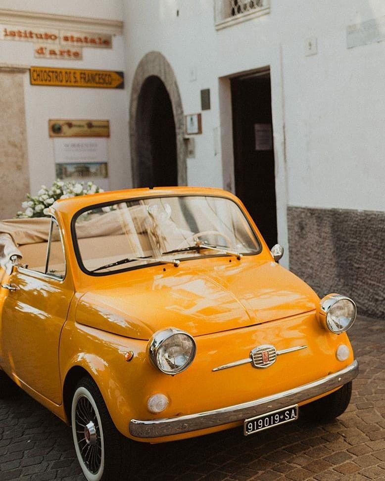 Fiat 500 wedding car in 2020 | Wedding car, Car, Wedding