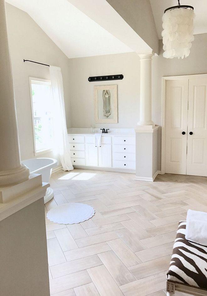 Floor Is Daltile In Herringbone Pattern Patterned Floor Tiles