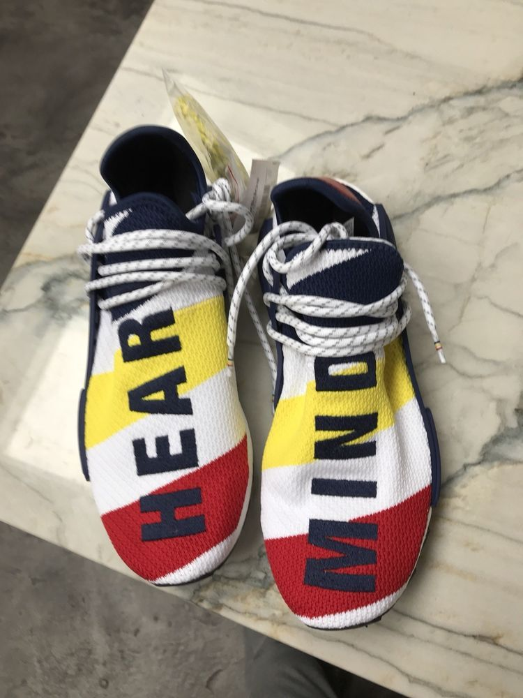 169a2dd361e1b Adidas Pharell Williams BBC Hear Mind HU NMD Sneakers Size 10  fashion   clothing  shoes  accessories  mensshoes  athleticshoes (ebay link)