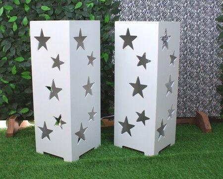 Cubos Vazados com luminária - Estrela www.convitesefestas.com