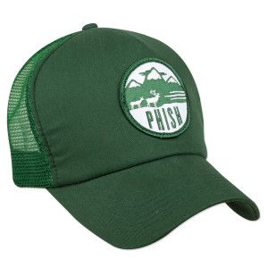 Phish deer patch embroidered onto a mesh foam snapback hat.  b60d70b6370c
