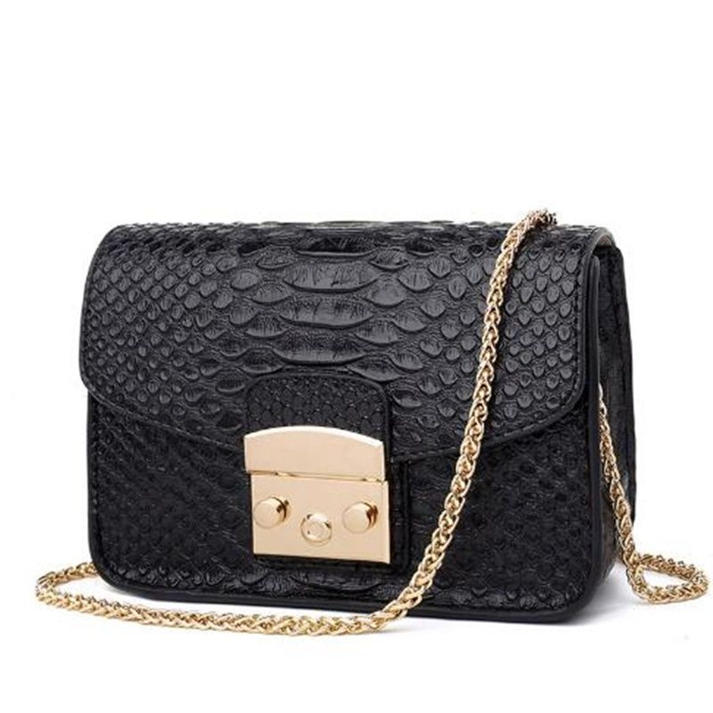 Clutch Alligator Leather Messenger Bags Luxury Ladies Mini Small Flap Handbag  Girl Chains Crossbody Shoulder Bag Sac Femme Gift a129738b1a
