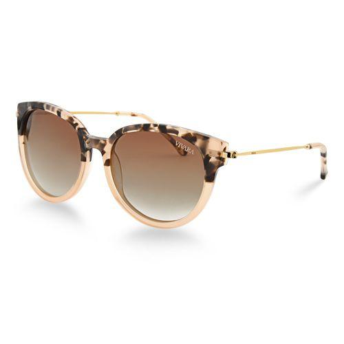 Óculos de Sol Redondo Feminino Acetato Nude   Óculos de sol ... a4d8315736