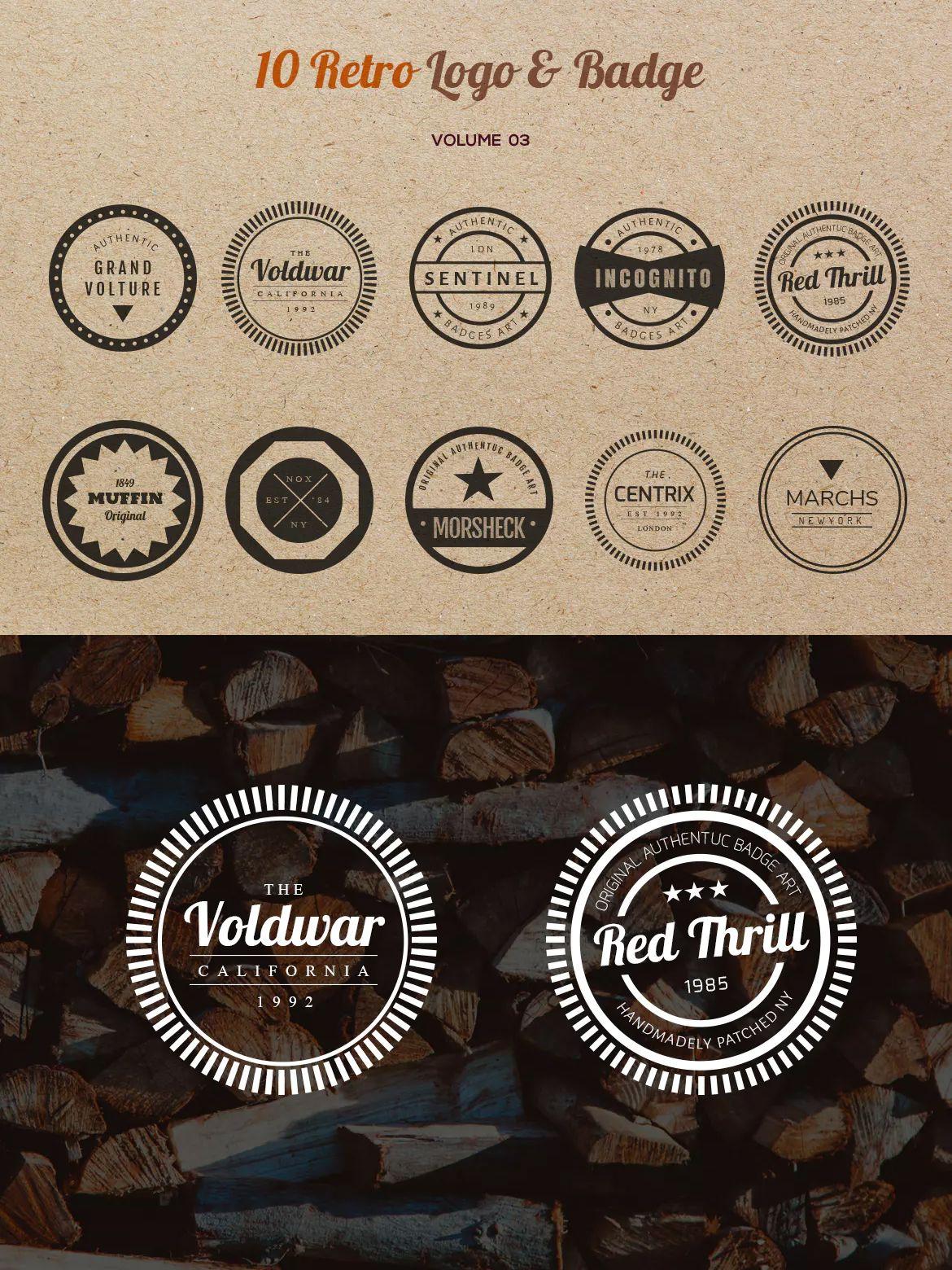 10 Retro Logo & Badge Template PSD, AI, EPS   Badges - Sticker ...