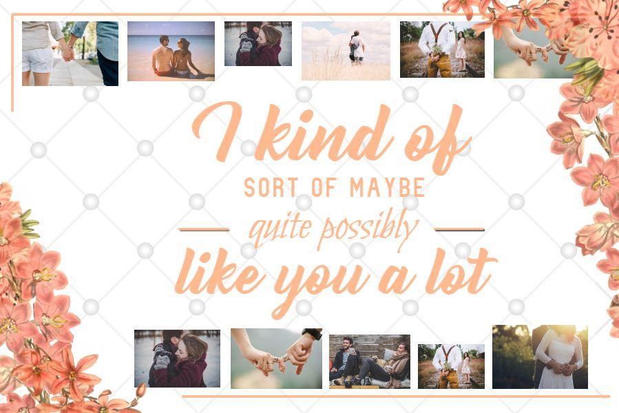 Printable Romantic Anniversary Card Template With Quote Orange Card Template Romantic Anniversary Romantic