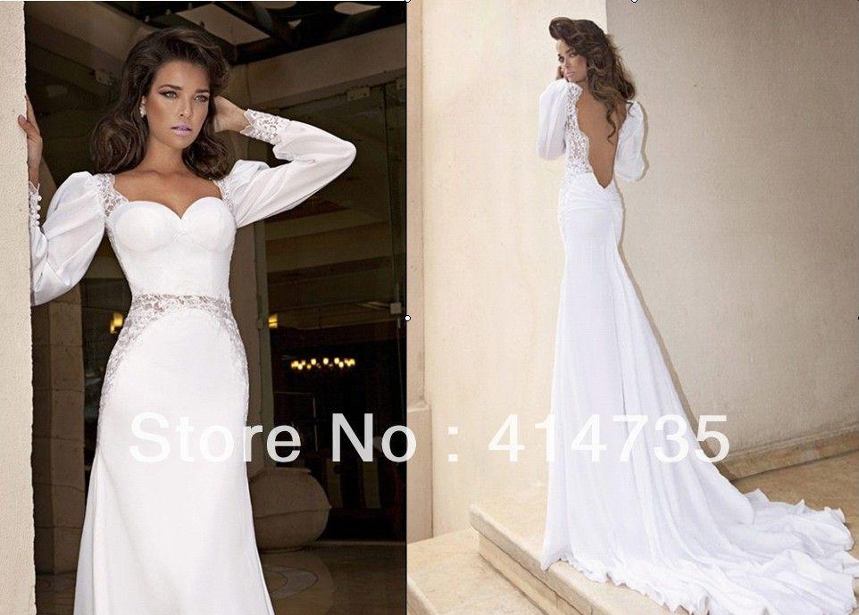 fab11c22900 Popular Long Sleeve White Evening Dress-Buy Cheap Long Sleeve