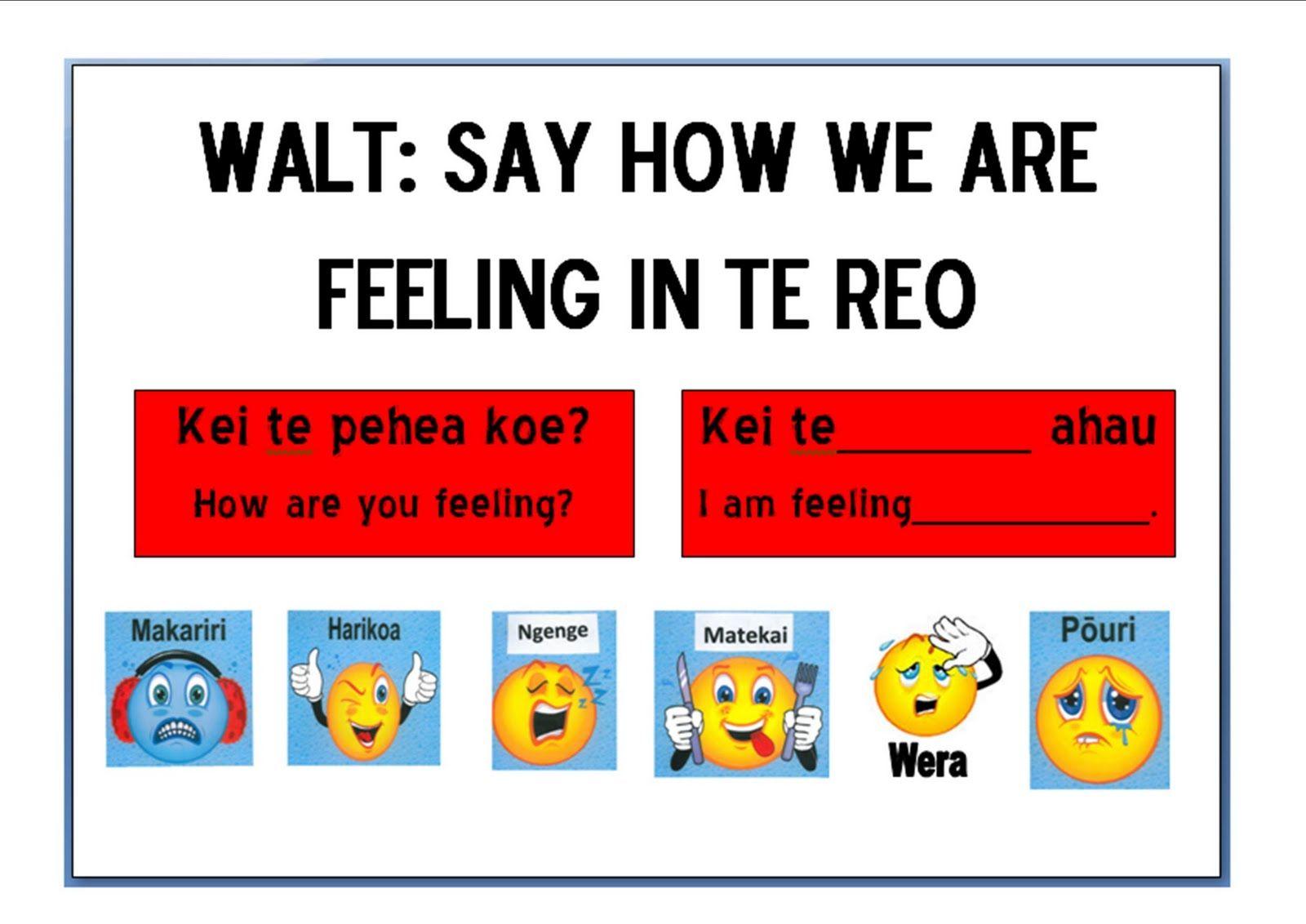 Kei Te Pehea Koe Maori Pinterest Maori Teaching Resources And