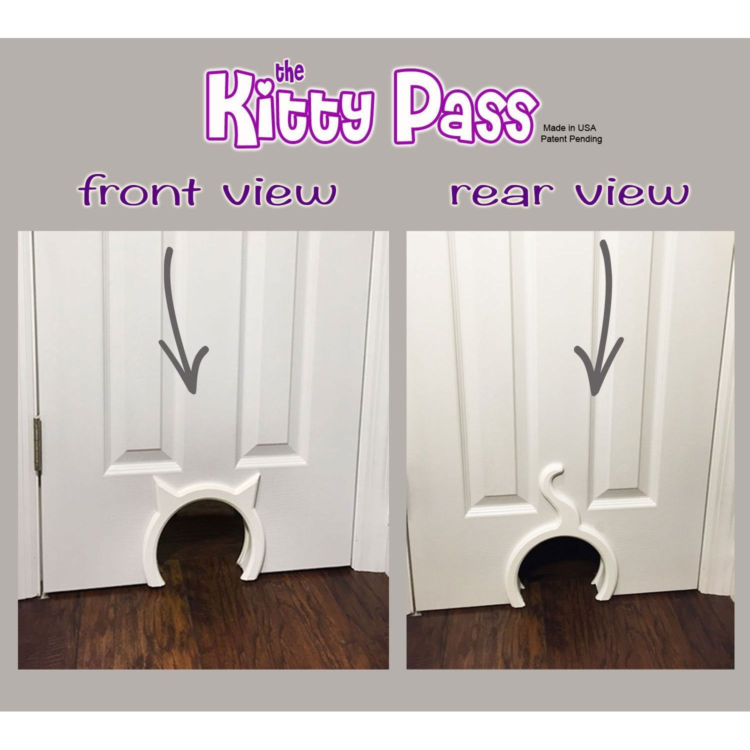 The Kitty Pass Interior Cat Door Hidden Litter Box Pet Door for cats up to 21 lbs & Features: -The kitty pass is the safest and cutest way to let your ... Pezcame.Com