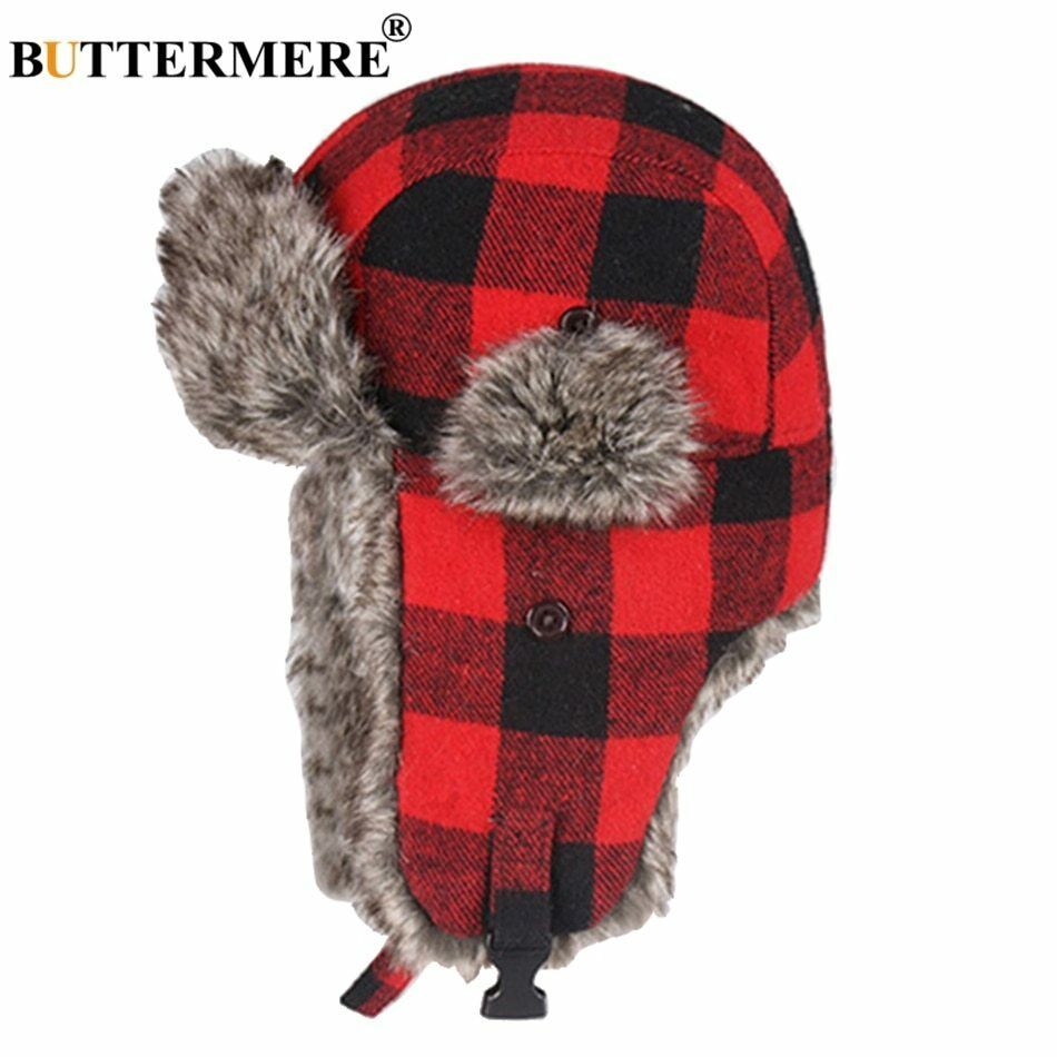 3855178f39984 Earflap Trapper Bomber Aviator Russian Trooper Fur Winter Ski Hat Mens  Womens #BUTTERMERE #Asshowninthepicture