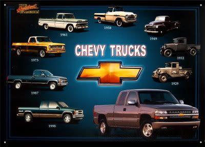 Chevy Pickup History Decades Of Trucks Chevy Trucks Chevy
