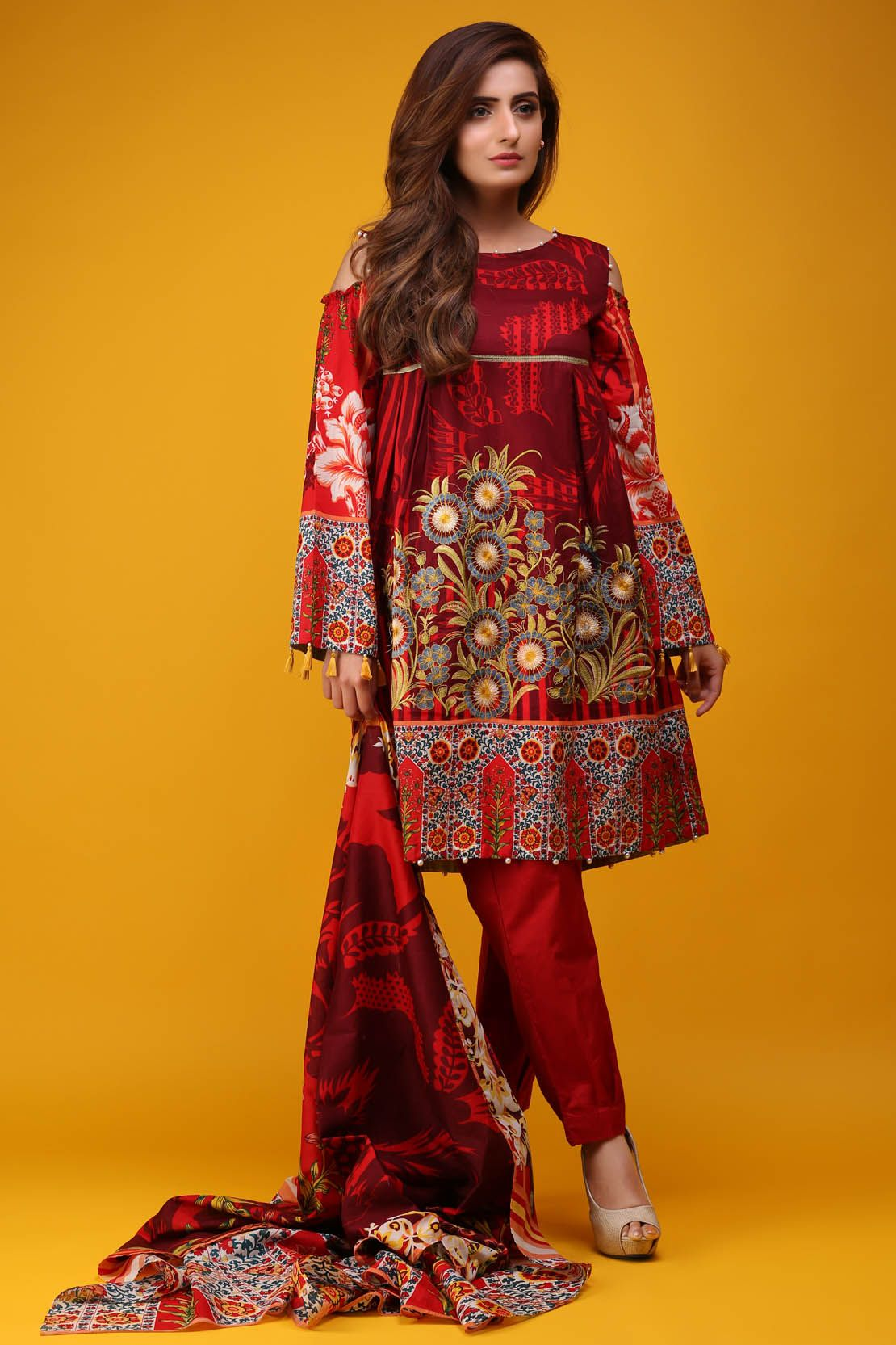 c9cea7e52ab Warda Latest Summer Dresses Printed   Embroidered Collection 2019 ...