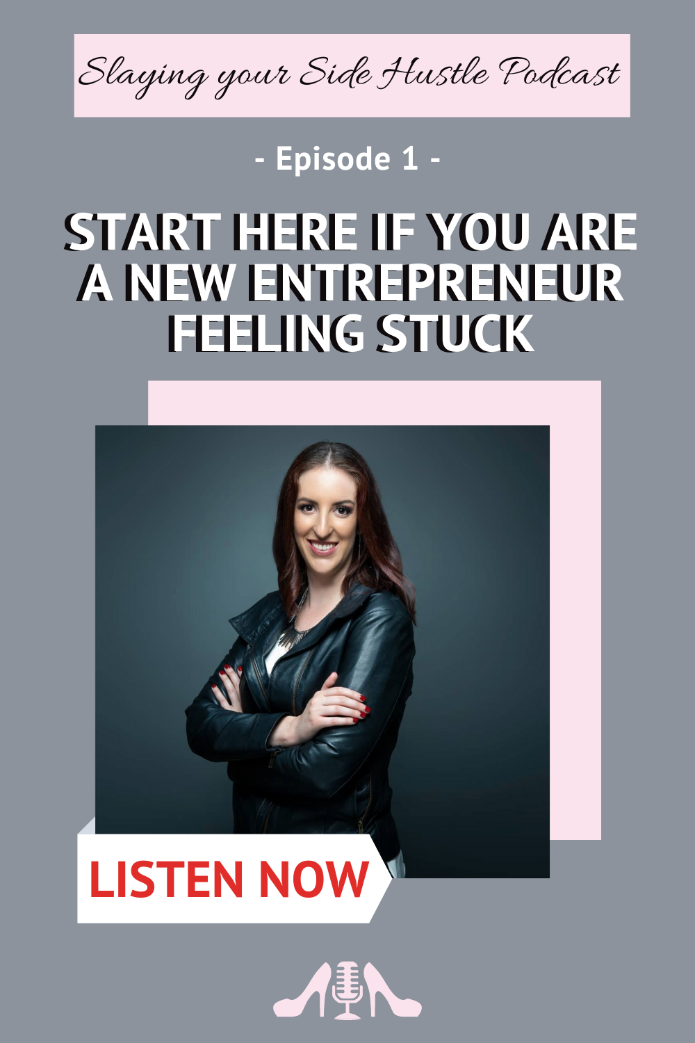 Start here if you are a new entrepreneur feeling stuck - Slaying your Side Hustle Podcast - Starting a business is a hard thing to do and you might need some help on what are the things to do and how to track your goals! Click to listen and get my best tips to start your own business! Hosted by Olivia Powell #businesstips #podcast #smallbusiness #startingabiz