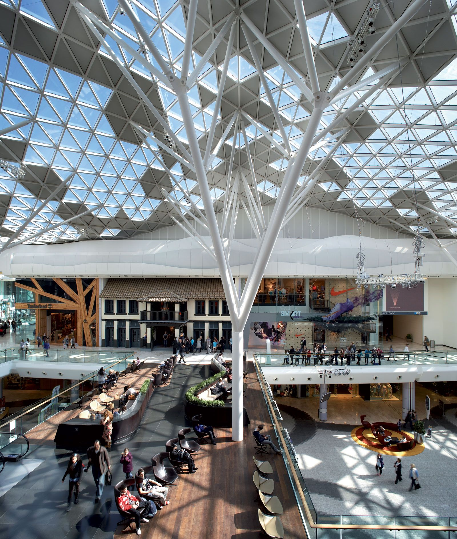 Westfield London Benoy Architecture, Roof architecture
