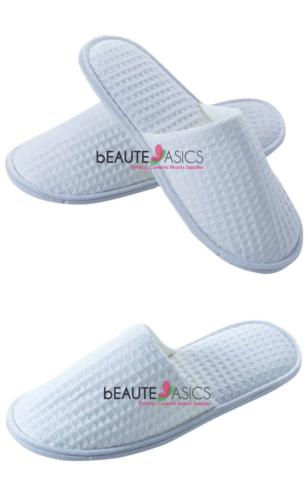 5c649be9b1 Slippers 163550  50 Pairs Cotton Waffle Weave Slippers Spa Wedding Travel  Party -  BUY