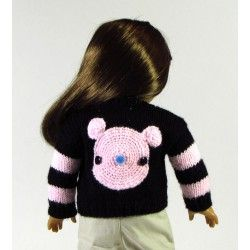 """For Sale: Hand Knitted Amigurumi Sweater for American Girl or your favorite 18"""" doll by Abigail's Knits"""