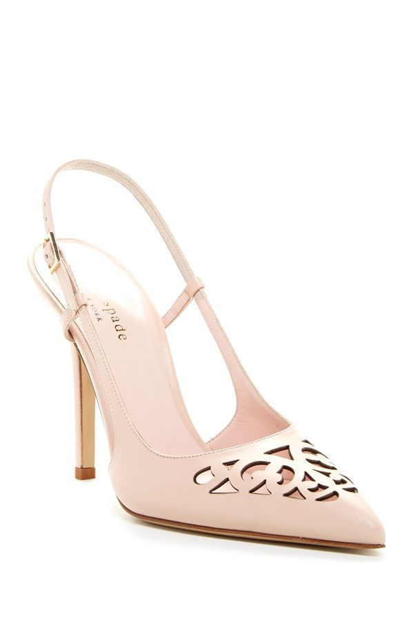 0dcb2bfae2d Pale Pink Slingback Cut Out Pumps  Promotional Pin