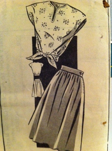 Rare 1940s mail order pattern. Blouse and skirt. by BOBBYPINQUEEN, $13.50