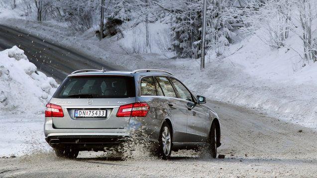 Mercedes-Benz E-Class Estate Wagon in a Winter Wonderland