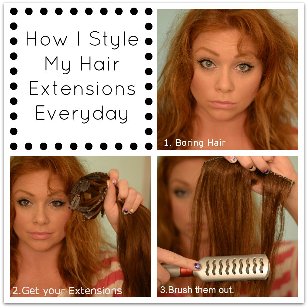 The Color Red Hot How I Style Hair Extensions Everyday