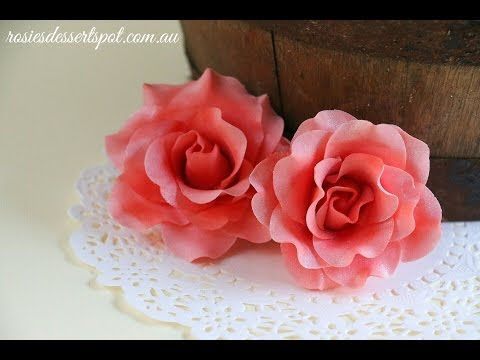anleitung rose aus bl tenpaste 5 petal ausstecher teil 1 youtube. Black Bedroom Furniture Sets. Home Design Ideas