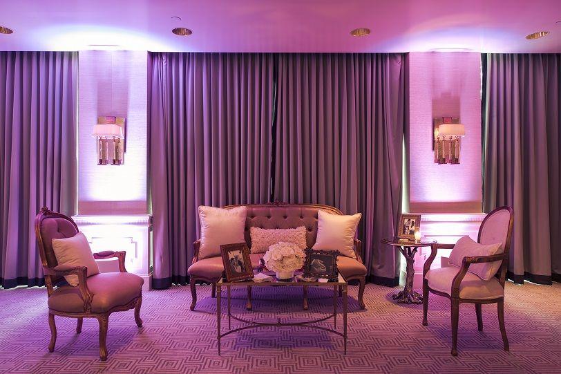 London West Hollywood Wedding - Ballroom lounge setup Beverly Harris ...