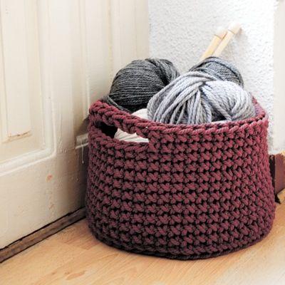 Patr n cesto crochet para guardar tus labores bolsos y - Cestas de ganchillo ...