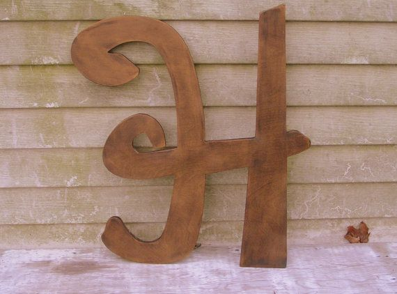 items similar to painted wooden letter h 24 inch large wood letter wedding nursery wall hanging home decor guest book alternative baby contemporary on