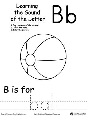 learning beginning letter sound b phonics worksheets alphabet worksheets letter sounds. Black Bedroom Furniture Sets. Home Design Ideas
