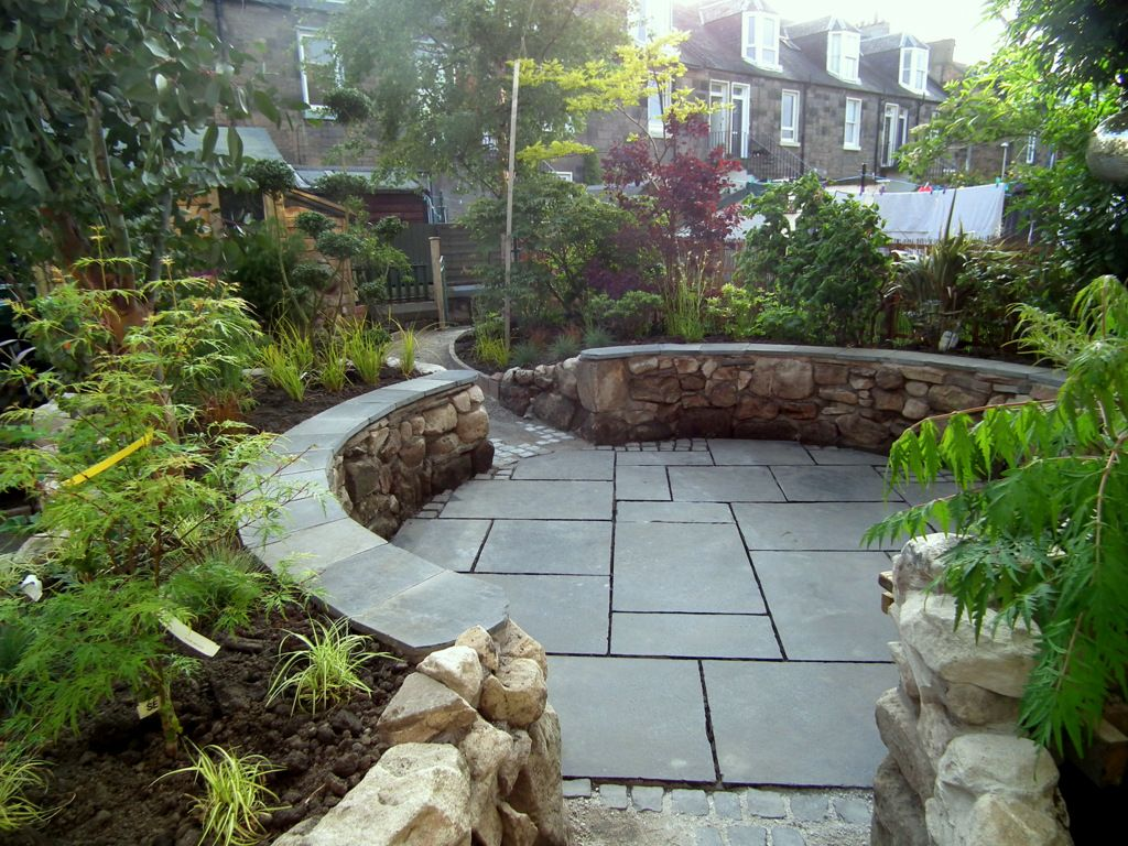 Sunken outdoor seating area google search outdoor for Garden area ideas
