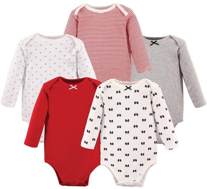 2c3732a39a97 Hudson Baby Long-Sleeve Bodysuits, 5-Pack, 0-24 Months - Mustache 12 ...