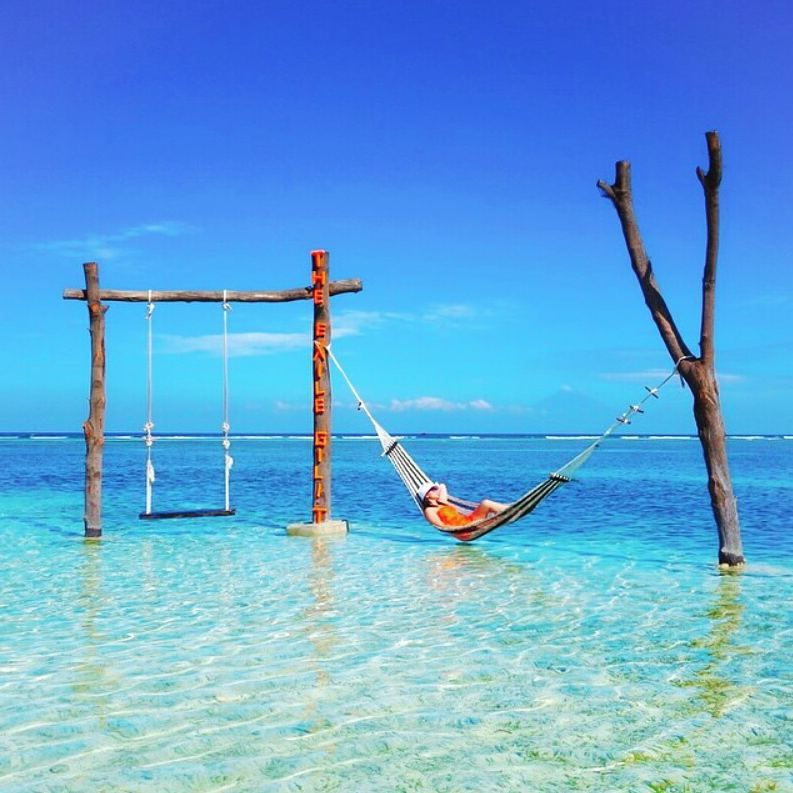G i l i T r a w a n g a n Photo by @ellchintya Photo location : The Swing at Gili Trawangan Island Gili Trawangan, also known as Gili T is the largest and most developed out of the three Gili Islands. It is the easiest island to travel since there are countless guesthouses, hotels, bars and restaurants. Gili Trawangan is famous for its wild party scenes and beautiful beach. The peak season to Gili Trawangan is from July to August, December to January. There are no airports in Gili Trawangan