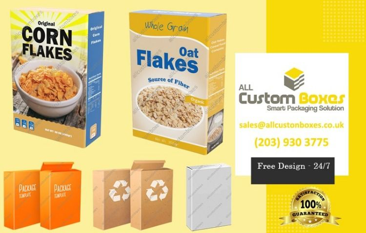 Custom Printed Cereal Bo Packaging